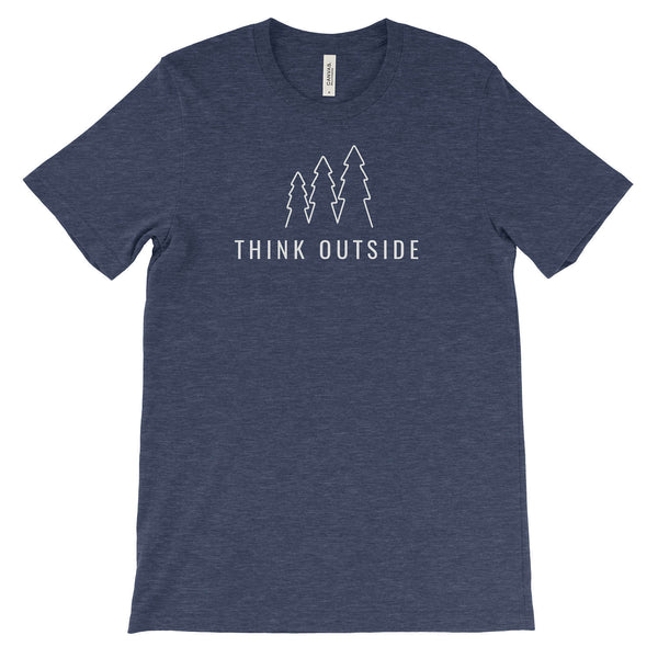 National Park Trees Think Outside Adventure Unisex Bella Canvas Tshirt - The National Park Store