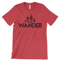 Wander Trees National Parks Adventure Unisex Bella Canvas Tshirt - The National Park Store
