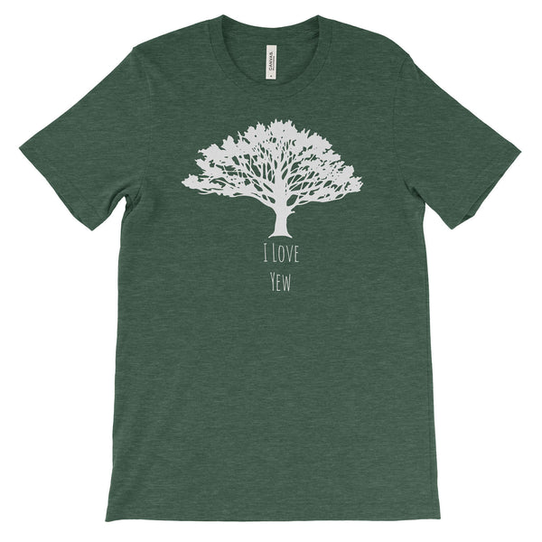 I Love Yew Tree Adventure  Unisex Bella Canvas Tee