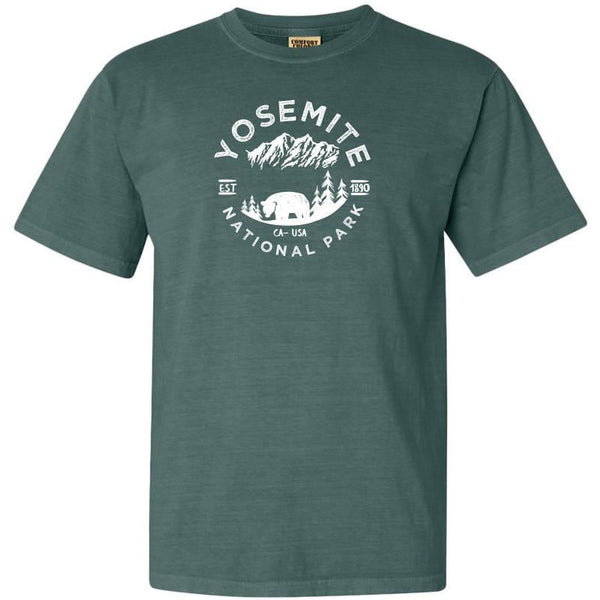 Yosemite National Park Adventure Comfort Colors TShirt - The National Park Store