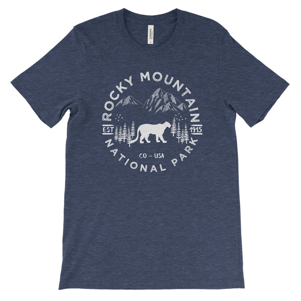 Rocky Mountain National Park Adventure Unisex Bella Canvas Tshirt - The National Park Store