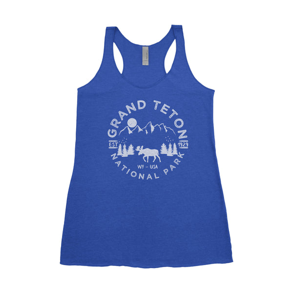 Grand Teton National Park Adventure Next Level Ladies Tri-Blend Tank - The National Park Store