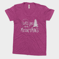 Lets Go to the Mountains National Park Adventure Bella Canvas Women's Triblend Tshirt - The National Park Store