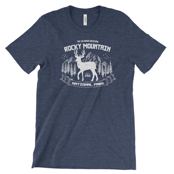 Rocky Mountain National Park Elk Adventure Unisex Bella Canvas Tshirt - The National Park Store