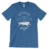 Yellowstone National Park Wolf T shirt