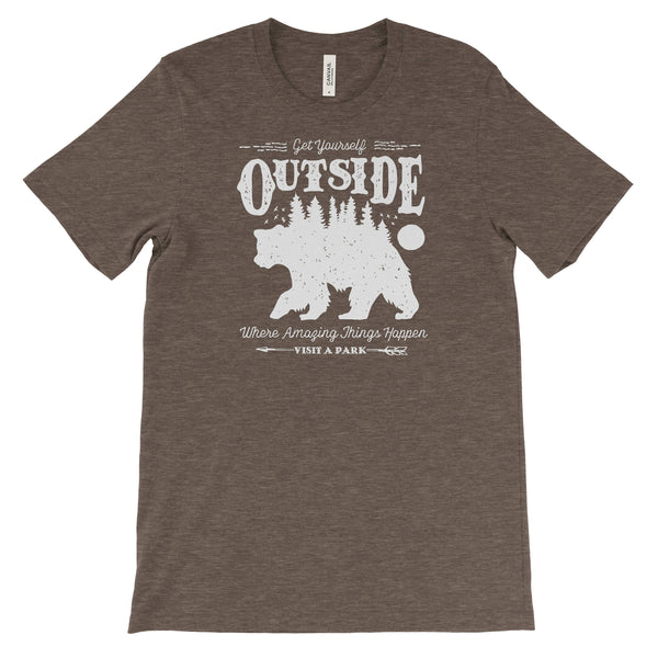 Get Yourself Outside Adventure National Park Unisex Bella Canvas Tshirt - The National Park Store