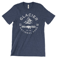 Glacier National Park Adventure Unisex Bella Canvas Tshirt - The National Park Store