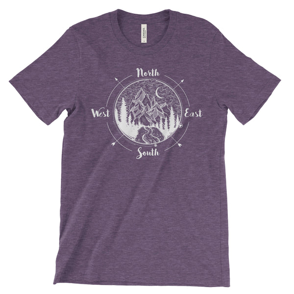 National Park Compass Adventure Unisex Bella Canvas TShirt - The National Park Store