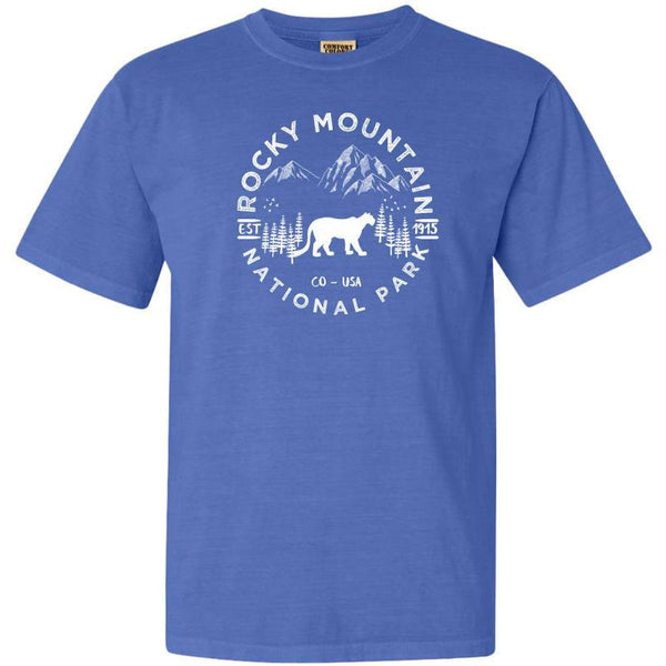 Rocky Mountain National Park Adventure Comfort Colors TShirt - The National Park Store