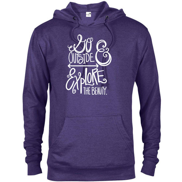 Go Outside and Explore the Beauty National Park Adventure Unisex French Terry Hoodie - The National Park Store