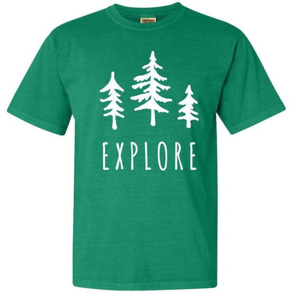 Explore Trees National Park Adventure Comfort Colors TShirt - The National Park Store