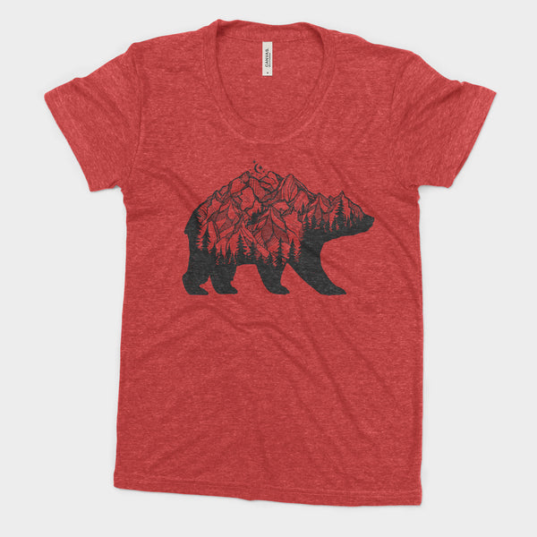 National Park Bear Adventure Bella Canvas Women's Triblend Tshirt - The National Park Store