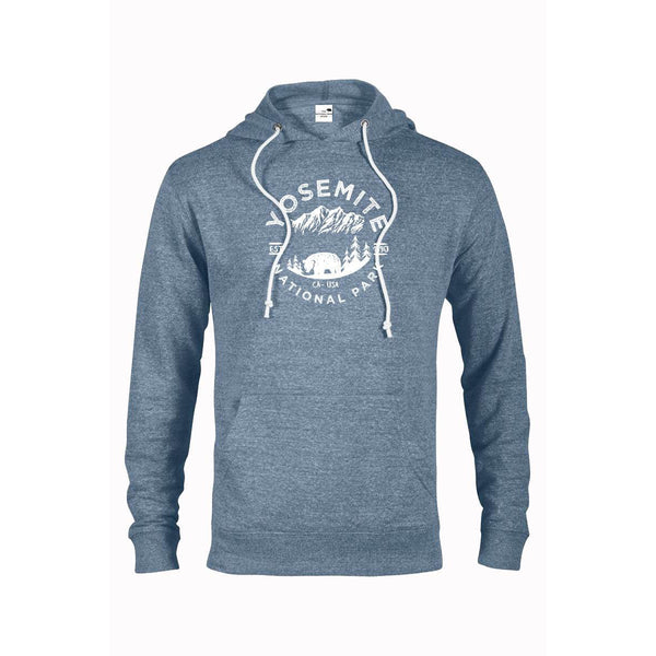 Yosemite National Park Adventure Unisex Snow Heather French Terry Hoodie - The National Park Store