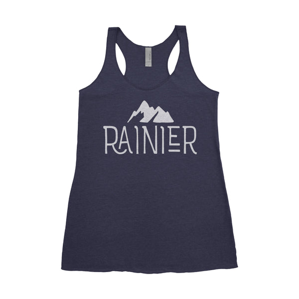 Mt. Rainier National Park Adventure Next Level Ladies Tri-Blend Tank - The National Park Store