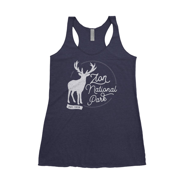 Zion National Park Adventure Next Level Ladies Tri-Blend Tank - The National Park Store