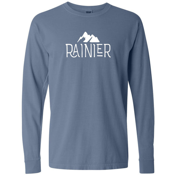 Mount Rainier National Park Comfort Colors Long Sleeve TShirt