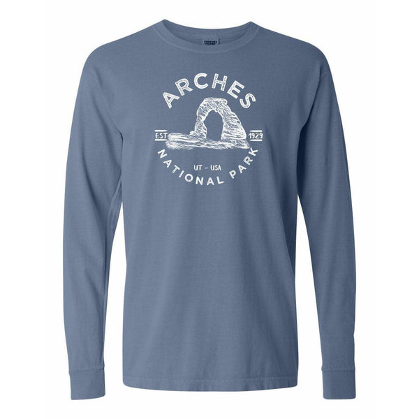 Arches National Park Comfort Colors Long Sleeve T Shirt