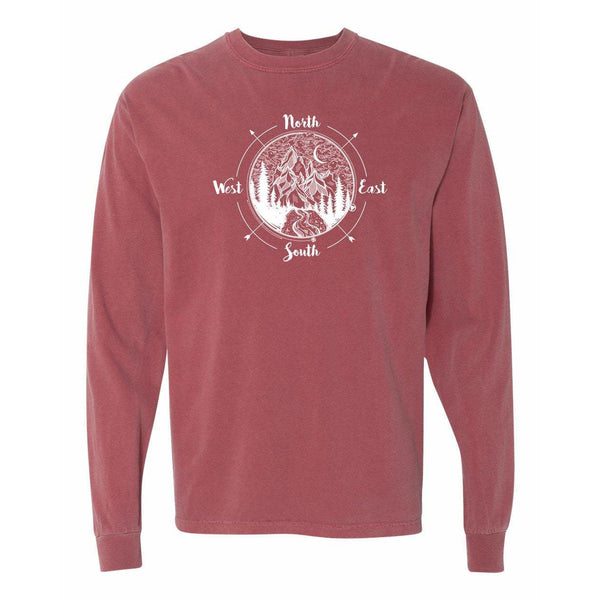 Compass National Park Comfort Colors Long Sleeve T Shirt