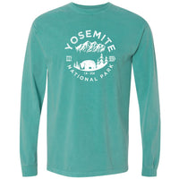 Yosemite National Park Comfort Colors Long Sleeve TShirt