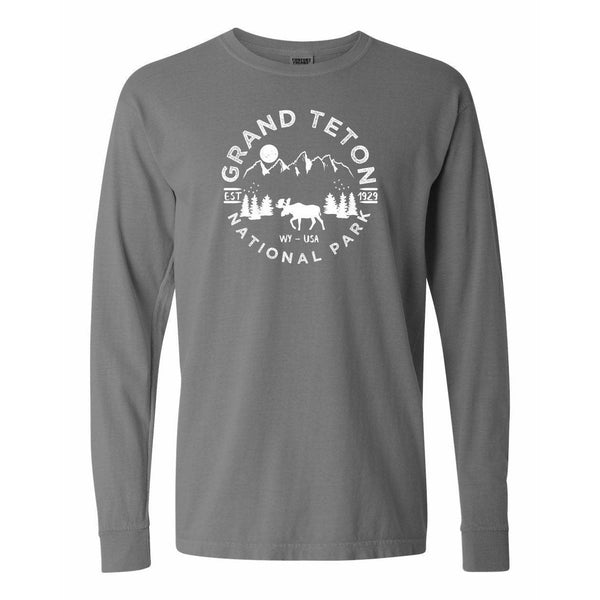 Grand Teton National Park Comfort Colors Long Sleeve T Shirt