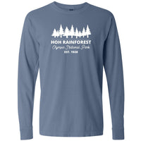 Hoh Rainforest Olympic National Park Comfort Colors Long Sleeve T Shirt