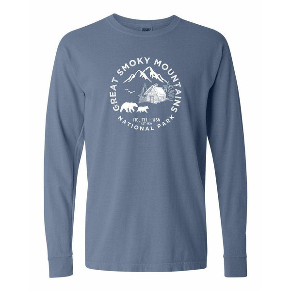 Great Smoky Mountains National Park Comfort Colors Long Sleeve TShirt