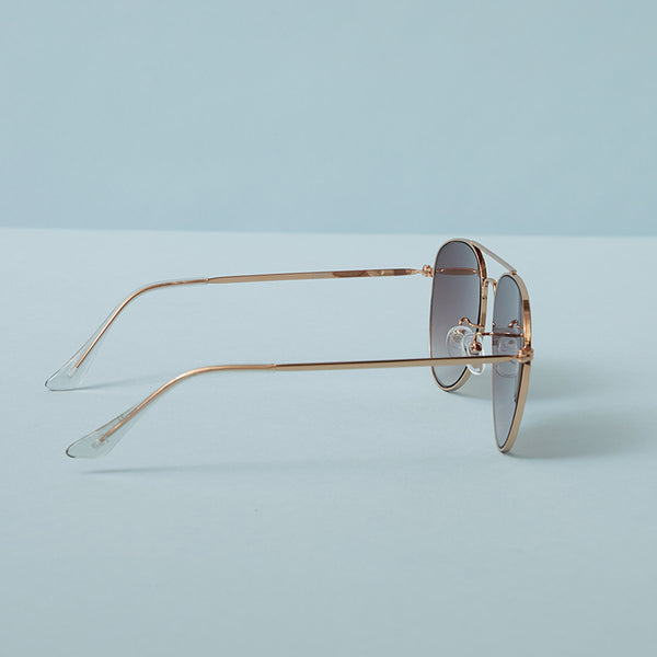 Kay Aviator Sunglasses with Blue Lenses