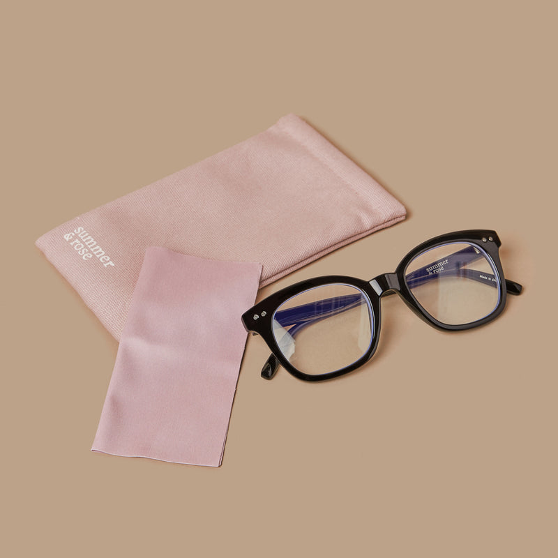 Blue light blocking glasses with black frame