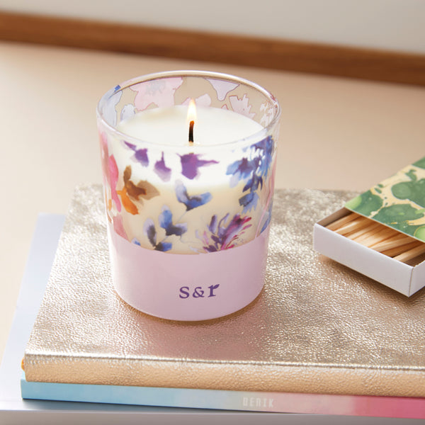 Soy wax candle with lily scented essential oils