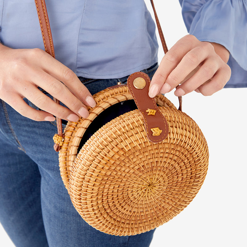 Kristine Straw Crossbody Bag