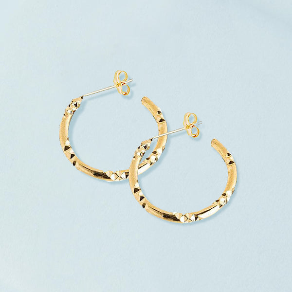 Mila Gold Hoop Earrings