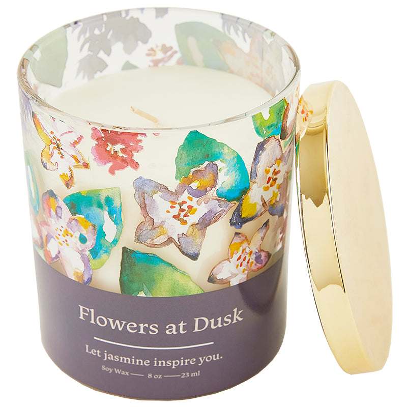 Flowers at Dusk Candle