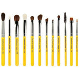 Bdellium Tools -Travel Eyes 12pc. Brush Set with Roll-up Pouch - Nuestro Secreto