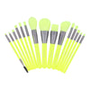 15 Pieces Neon Green Makeup Brush Set Docolor