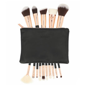 15 Pieces Rose Gold Makeup Brushes Set Rose Gold