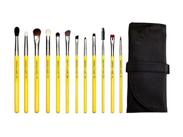 Bdellium Tools -Studio Eyes 12pc. Brush Set with Roll-up Pouch Studio