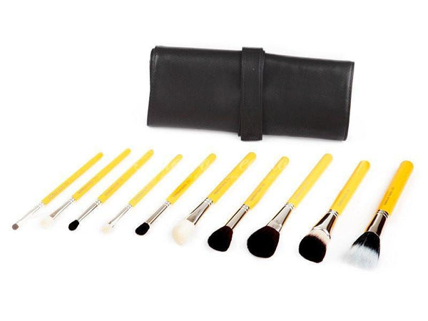 Bdellium Tools -Studio Mineral 10pc. Brush Set with Roll-up Pouch