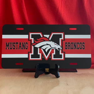 Mustang Bronco License Plate