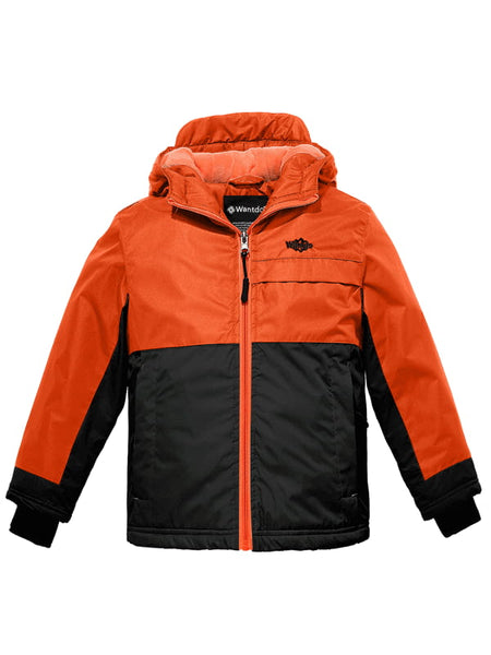 Boy's Winter Parka Puffer Jacket with Removable Fur Hood