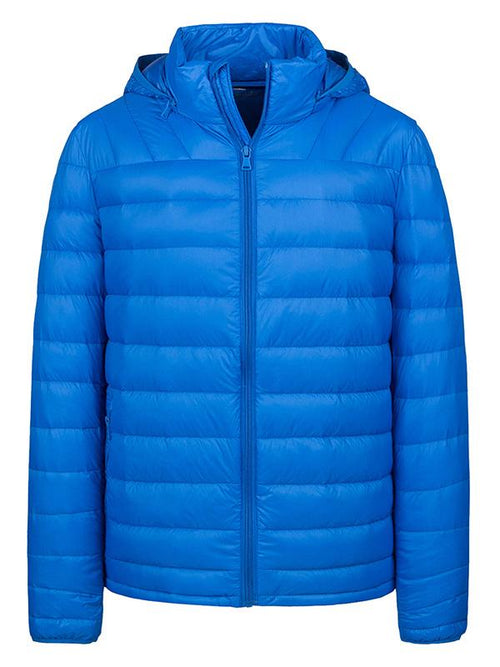 Men's Puffer Down Jacket Winter Coat with Removable Hood