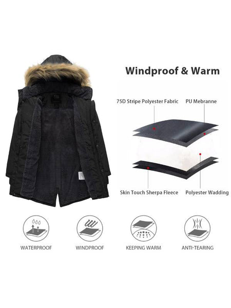 Men's Winter Wool Blend Pea Coats - wantdo