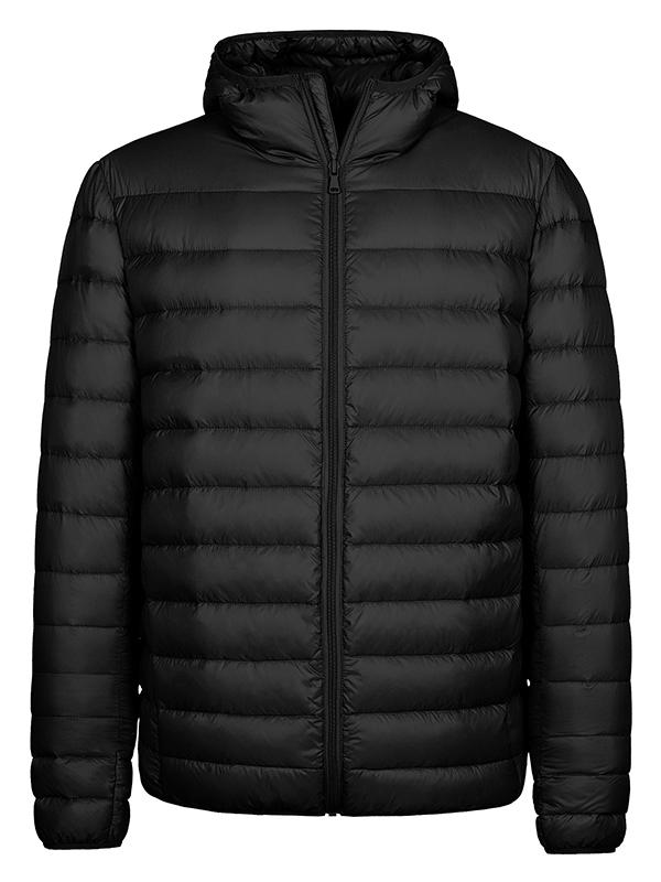 5f66f85dc68 Mens Down Jacket Packable Hooded Puffer Coat Lightweight