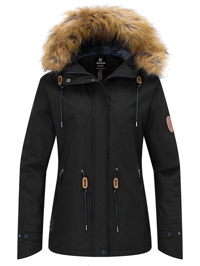 Women's Parka Jackets Waterproof Snow Ski Hooded Fleece Winter Jackets