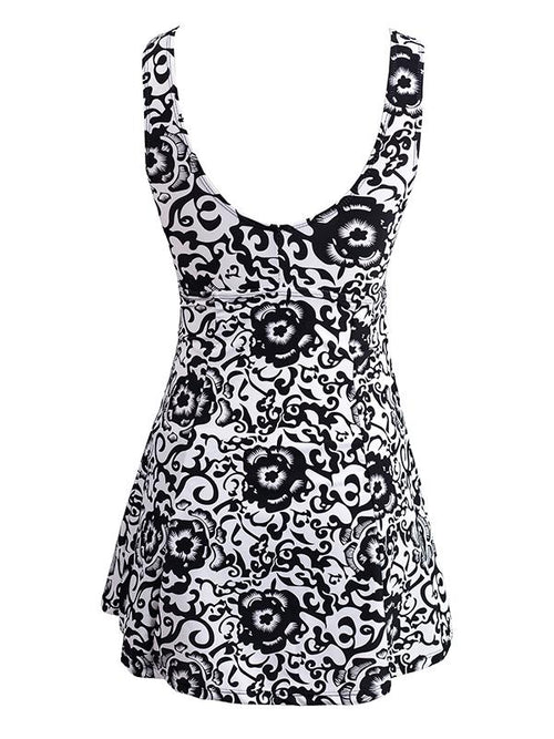 Women's One Piece Slimming Bathing Suit Modest Swimwear Swim Dress Plus Size