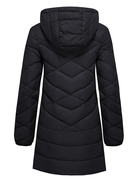 Women's Packable Hooded Long Puffer Coats Light Weight