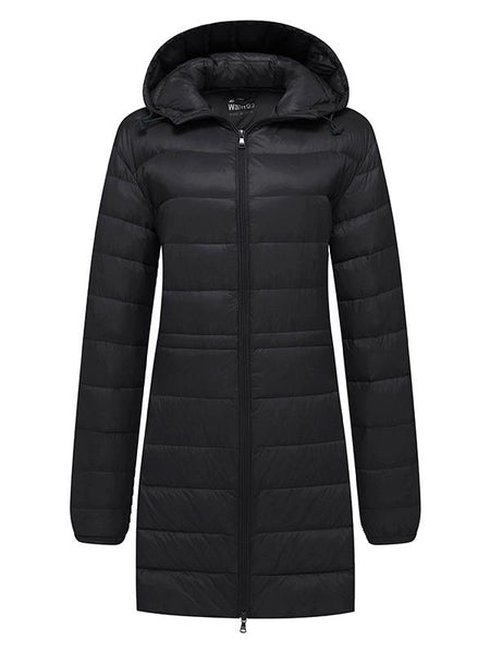 8cc57bf1b5 Women's Packable Down Jacket Long Puffer Coat Ultra Light – Wantdo