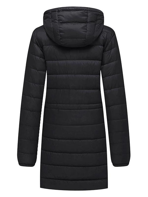 Women's Packable Down Jacket Long Puffer Coat Ultra Light