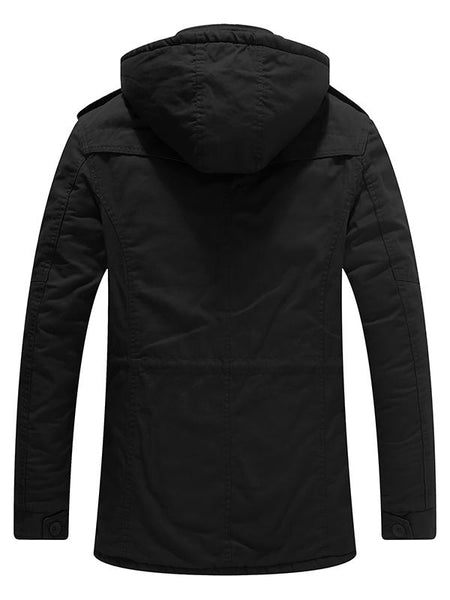 Mens Winter Coats Parka Utility Jacket with Hood Slim Fit