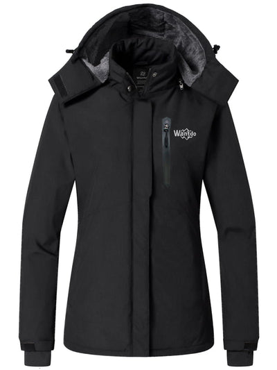 Women's Ski Jacket Winter Coats Fleece Lined Rain Jacket