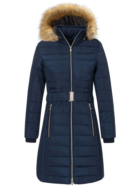 DarkDenimBlue Women's 3-in-1 Waterproof Ski Jacket Windproof Puff Liner Winter Coat